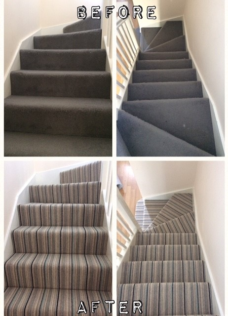 Here Is A Great Example Of How Striped Carpet Can Transform Staircase This From Our Shetland Berber Collection Priced At Just 1500 Sq M