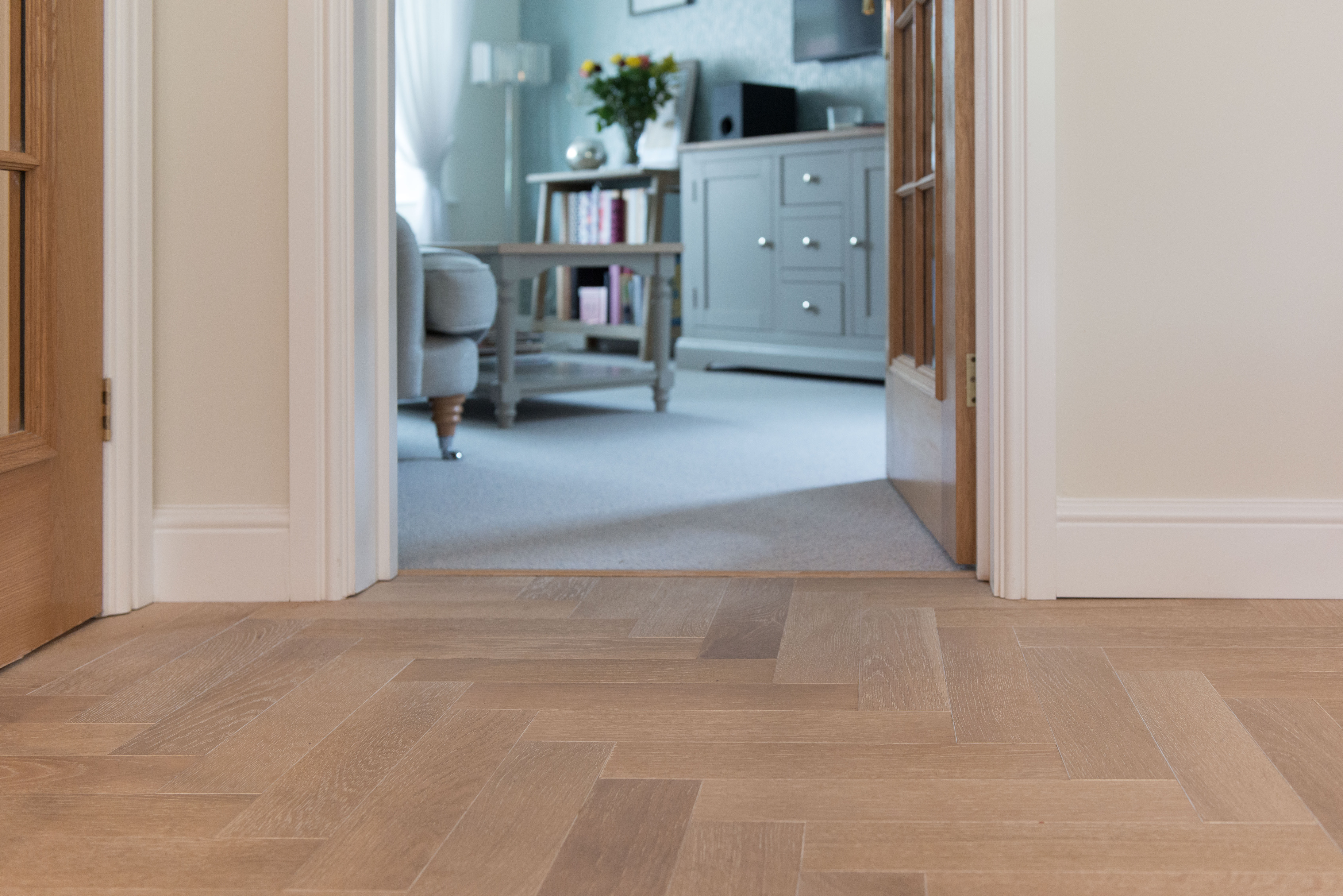 V4 Zig Zag Collection Parquet Flooring to family space in Buckingham