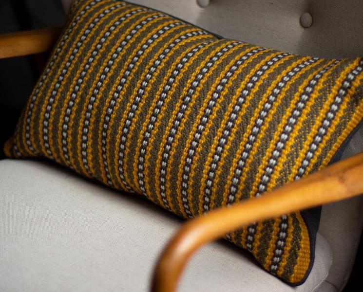Ixworth Ochre Cushion